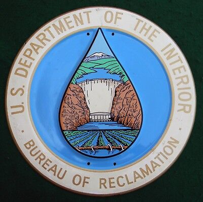 1968 Vintage U.S. Department Of The Interior Bureau Of Reclamation Sign