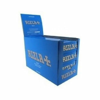 100 booklets full box Blue Rizla Regular Standard Thin Cigarette Rolling Papers
