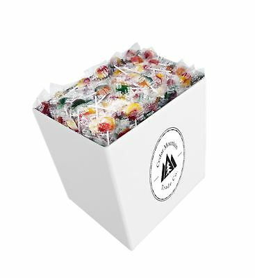 5lb Box of Assorted Flavors of Mixed Fruit Suckers and Lollipops, Bulk Candy,
