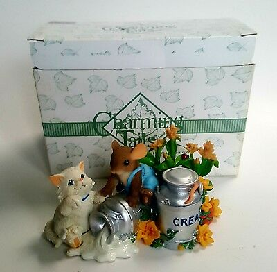 """Charming Tails """"YOU'RE THE CREAM OF THE CROP"""" Fitz and Floyd with box"""