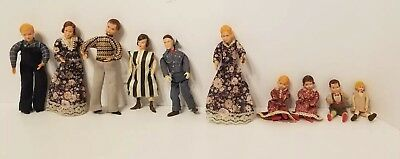 Lot of 10 Vintage Dollhouse Doll/ People/ Figures