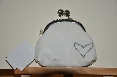 Sea World White Change Purse with Whale Tail Shaped Heart - NEW