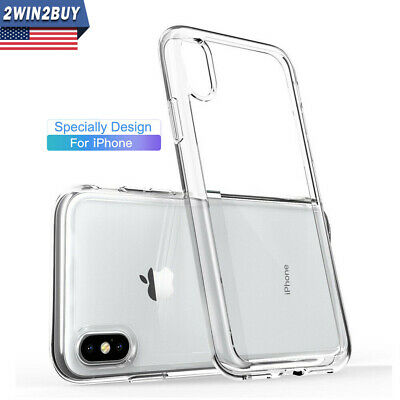 For iPhone X XS MAX XR Case Crystal Clear Soft Silicone Ultra Thin Bumper Cover