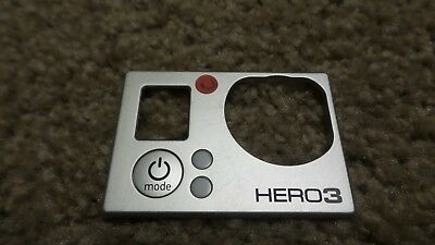 Front Faceplate Camera Face Plate Cover For Gopro HD Hero HD3 Hero3 Silver