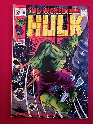 The Incredible Hulk #111 1St App. 1 Owner 1St Galaxy Master 5.5 Bone White Pgs.