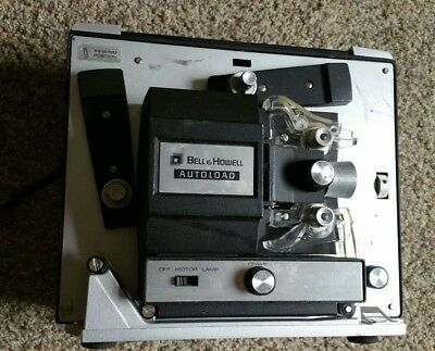 Vintage Bell & Howell Autoload Super 8mm Movie Projector Model 461B (d18)