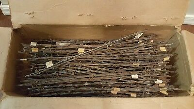 Old Antique Vintage Large Lot of approx 175 pieces Metal Barb Barbed Wire & Rods