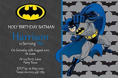 Personalised Batman Birthday Party Invitation You Print