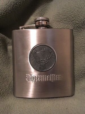 Jagermeister Stainless Steel Flask 6 oz. - Deer Head Logo