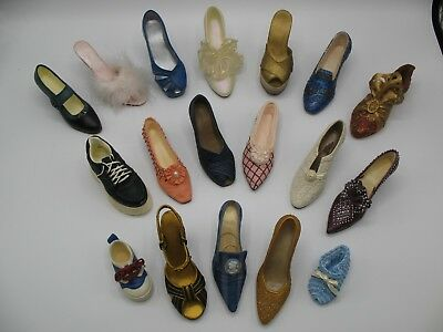 Lot of 18 Just The Right Shoe by Raine Willittis Designs Collectible Miniatures
