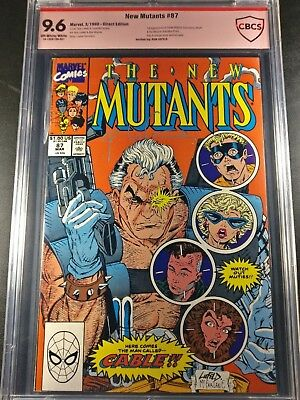 1990 Marvel New Mutants #98 1st Cable Signed Rob Liefeld Graded CBCS 9.6