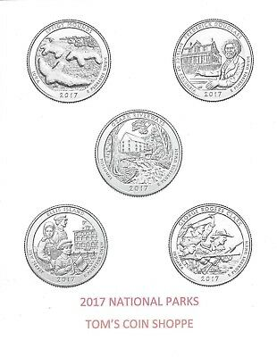 2017 National Park Quarters Complete P&d Set (10 Coins) ****in Stock****