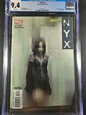 2004 Marvel NYX #3 1st Appearance of X-23 Laura Kinney Grade CGC 9.4 WP