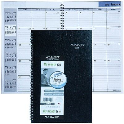 """2019 At-A-Glance DayMinder SK2-00 Monthly Planner 7-7/8 x 11-7/8"""""""