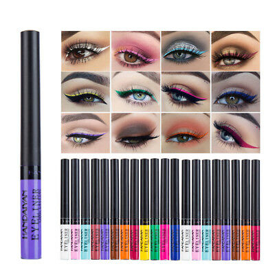 Matte Liquid Eyeliner Bright Color Waterproof Eye Liner Pencil Long Lasting Pen
