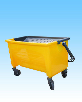 JL Premium  Professional Mop Bucket for 18 inch Flat Wet Mops, Yellow/190895-BAI