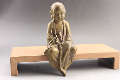 Collection Exquisite Chinese hand carving  brass statue   ar25