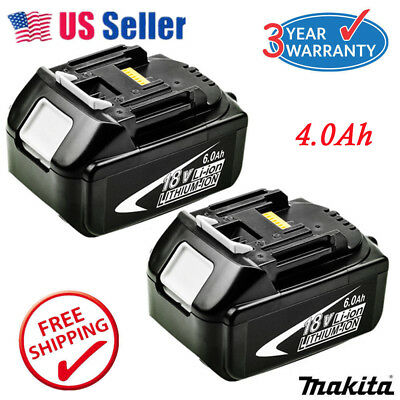2 X New 4.0Ah 18V Lithium Ion Battery For Makita BL1815 BL1840 BL1830 LXT400 US