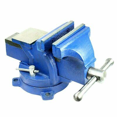 "4"" Bench Vise with Anvil with Swivel Locking Base All Steel Heavy Duty"