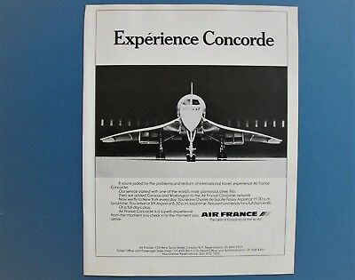 Original 1978 Print Ad - Air France Concorde Supersonic Jet Airliner