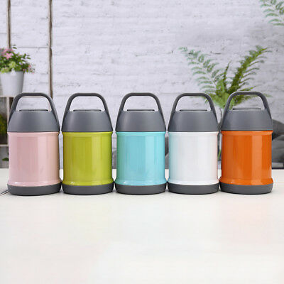Vacuum Insulated Food Jar Container Thermos Keep Hot/Cold Temperature Lunch Can
