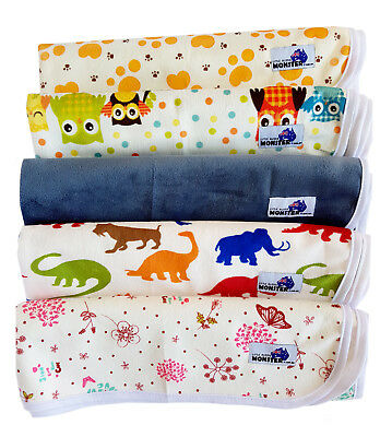 Cloth Change Mat for Baby/Infant/Toddler - Multiuse Soft Reusable NEW DESIGNS!