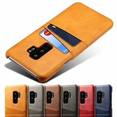 For Samsung Galaxy A8 A6 Plus 2018 Leather Wallet Credit Card Back Case Cover