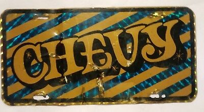 "CHEVY 70's Retro License Plate Tag 12"" x 6"" Vintage"