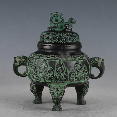 Chinese Bronze Lion Incense Burner Made During The Daming Xuande Period QT0030