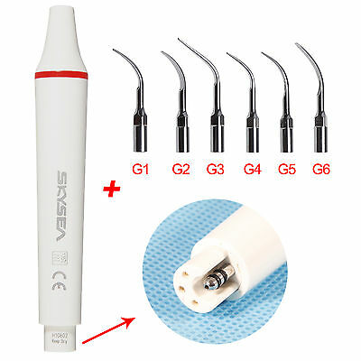 Dentaire Ultrasonic Scaler Handpiece Fit EMS WOODPECKER avec 6 Scaler tips