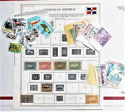 Dominican Republic Stamp Collection on Minkus Supreme Global Pages + Packets
