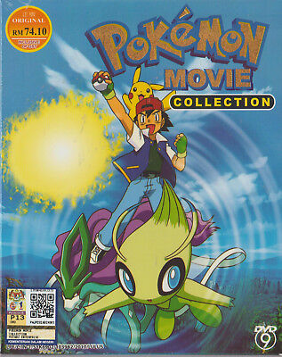 Anime DVD Pokemon 19 In 1 Movie Collection English Subtitle Free Shipping