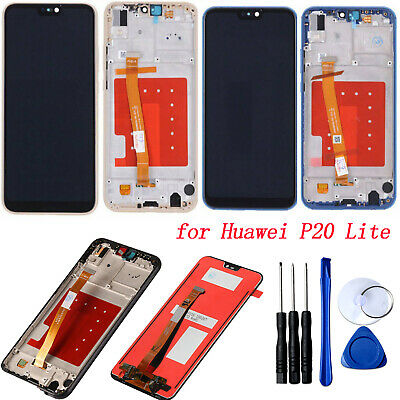 For Huawei P20 Lite LCD Display + Touch Screen Digitizer Assembly +Frame Replace