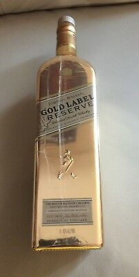 Johnnie Walker Empty Gold Label Reserve Bottle Scotch Whiskey Limited Rare