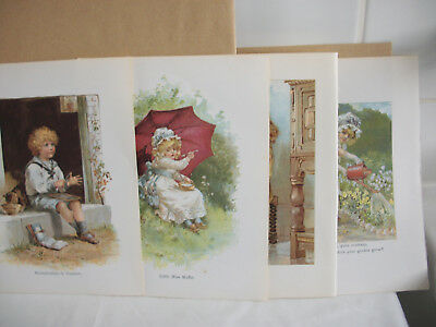 Mixed bookplates from Childrens Nursery Rhymes book Ref 6. Boy & Girls