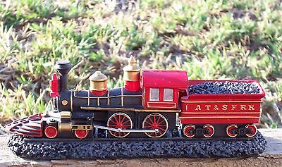 Train American 4-4-0 With Base Sku #f592 At & Sfrr New With Base 16Cm