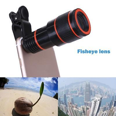 Clip-on 12x Optical Zoom HD Binocle Telescope Camera Lens For  Mobile Cell Phone