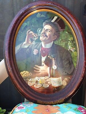 Metal Advertising Lithograph Tray, American Wine Co, Cook's Imperial Champagne