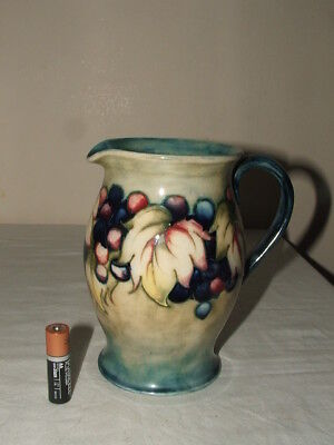 Moorcroft Art Deco Leaves & Berries Rare Colourway Tall Jug  Truly Fabulous