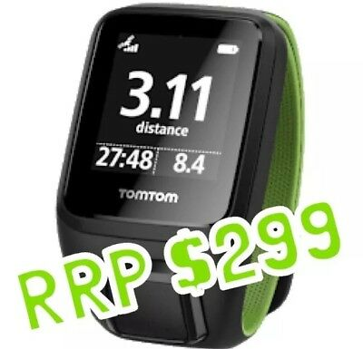 Tom Tom Runner 3 Cardio GPS Running Watch - Activity Tracker - Large
