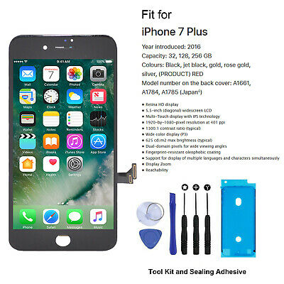 """For iPhone 7 Plus 5.5"""" LCD & Digitizer Screen Replacement Black - Genuine OEM IC"""