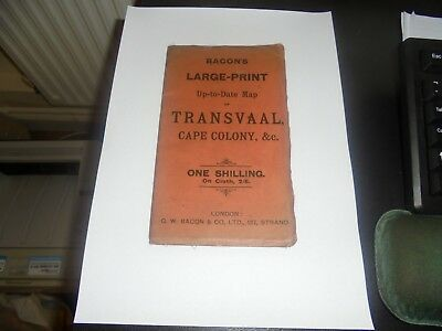 c1900 Transvaal, Bacon's Large Print Map, Transvaal, Cape Colony