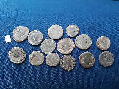 Lot of 14 Ancient Roman bronze coin