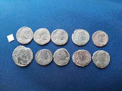 Lot of 10 Ancient Roman bronze coin