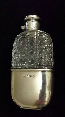 Early Hobnail Sterling Silver Flask