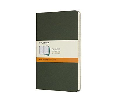 Moleskine Myrtle Green Large Ruled Cahier Journal Set of 3