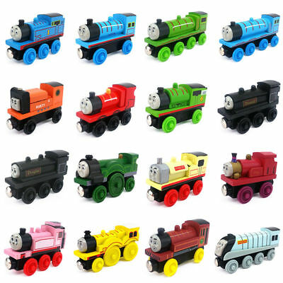 Kids The Tank Engine Tender Wooden Magnetic Railway Train Toys Car Truck Gifts
