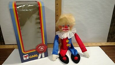 Vintage Max Carl (MC Original) Wind-Up Toy Clown with Box Western Germany