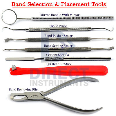 8PCs Orthodontic Band Placing Separating Band Pusher Seating Removal Bite Stick