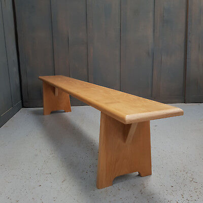 Pale Oak Bench Made from Old Church Chapel Pew Seats Made to Measure